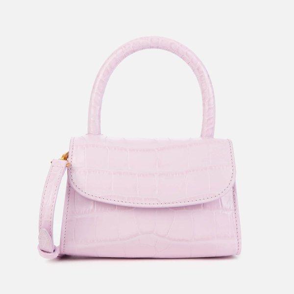 淡粉鳄鱼纹Mini Bag