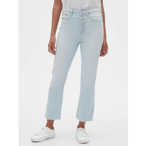 High Rise Crop Boot Jeans.