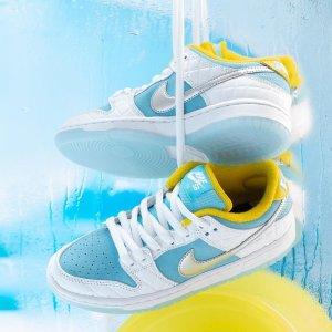 """7月28日发售 定价€109.99预告:FTC x Nike SB Dunk Low最新配色 蓝白皮革+日式泡""""汤"""""""