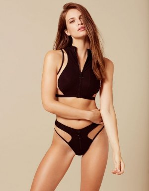 Marlene Black and Nude Bikini Top | By Agent Provocateur