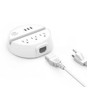 $22(原价$26)Ntonpower 桌面接线板 3插口+3USB+开关控制+手机放置槽