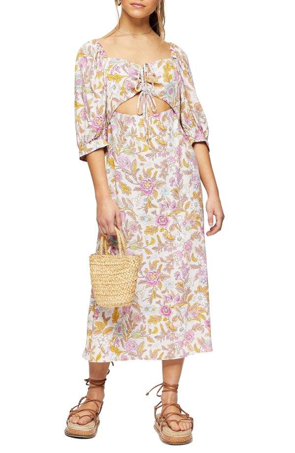 Floral Cutout 连衣裙