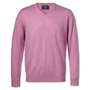Charles Tyrwhitt 粉色毛衣