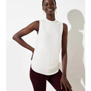 LOFTMock Neck Sweater Tank | LOFT
