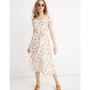 Madewell封面同款印花连衣裙