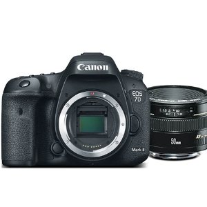 $999.99Refurbished Canon EOS 7D Mark II Camera + 50mm Lens