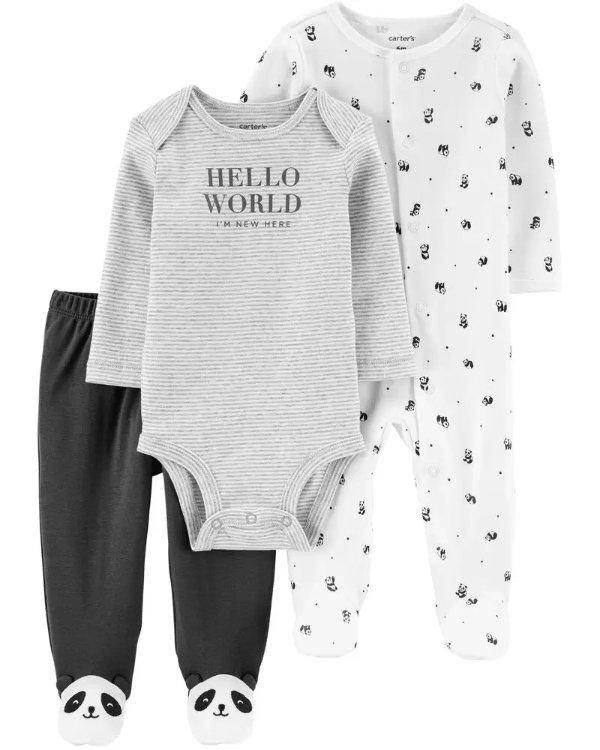 婴儿熊猫3件套