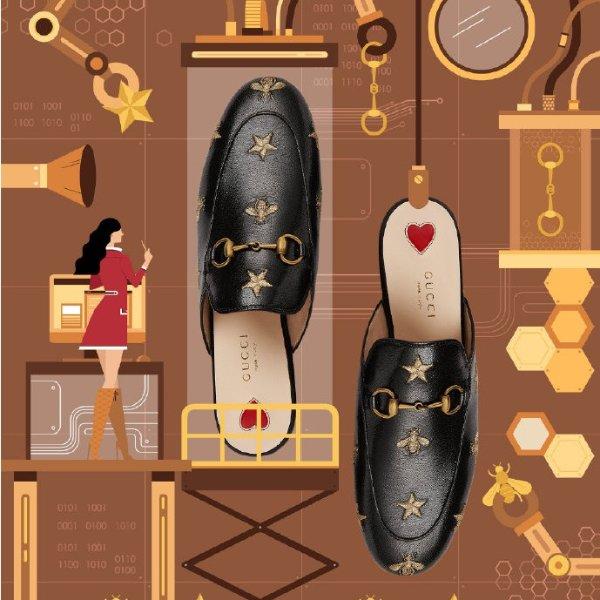 小蜜蜂穆勒鞋