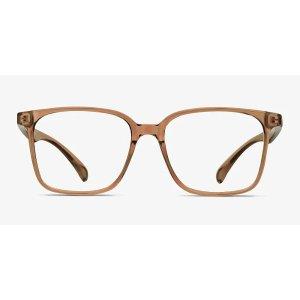 EyeBuyDirect全场镜片7折Blocks - Square Clear Brown Frame Glasses | EyeBuyDirect