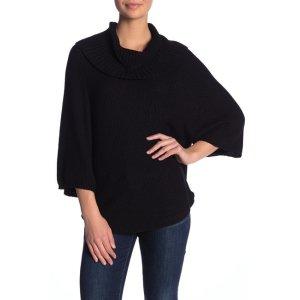 SplendidCowl Neck 3/4 Length Sleeve Sweater