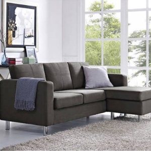 $299 Dorel Living Small Spaces Configurable Sectional Sofa, Multiple ...