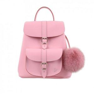Grafea Baby系列时尚粉色皮革背包