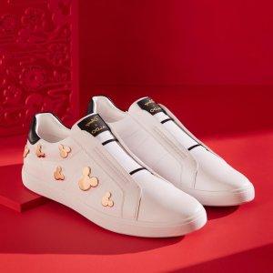 5折起+额外7折+免邮最后一天:Aldo 初春小白鞋清仓 封面米老鼠款$41 爱心鞋$31