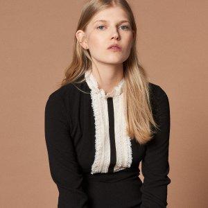 低至7折+额外7.5折最后一天:Sandro Paris 精致美裙热卖 法式风情浪漫过冬