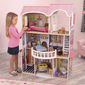 $124.99(原价$327.04)KidKraft Magnolia 豪华娃娃屋  梦幻又可爱