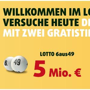 每周三 周六开奖Lotto 6aus49 奖金累计500万欧元  3次机会只要€1