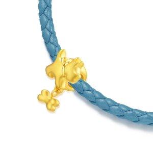 价格显示为HK$港币「可愛系列」足金狗串飾