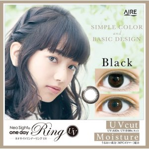 Neo Sight1day Ring UV [30 pcs x 2 boxes] / Daily Disposal 1day Disposal Colored Contact Lens DIA14.0mm Brown / Black