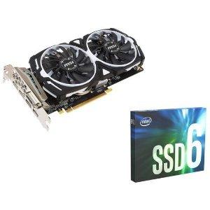 $169.98 送AMD 50周年2游戏礼包Intel 660p 512GB + MSI Radeon RX 570 ARMOR OC 8G显卡