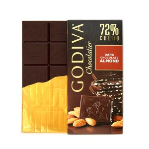 Godiva72%杏仁黑巧排块