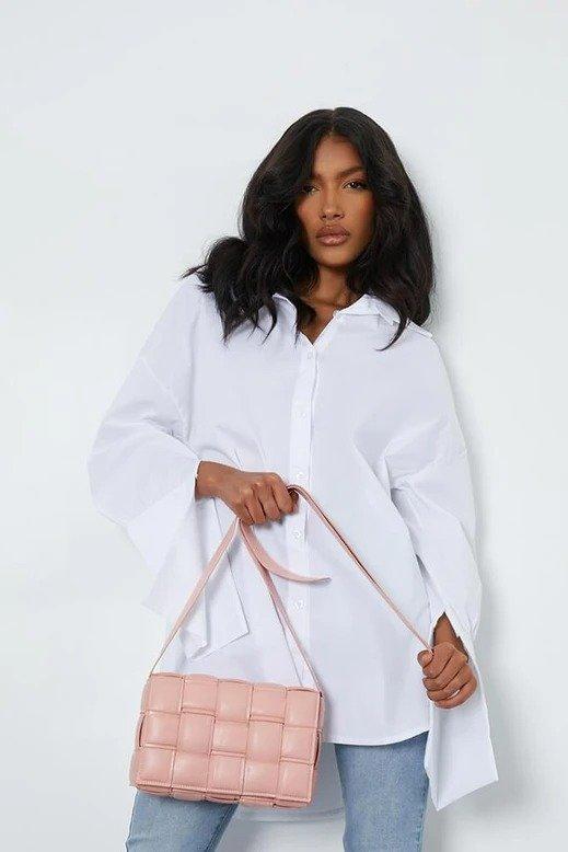 蜜桃粉枕头包
