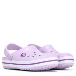 Crocs第二件半价 变相7.5折女童洞洞鞋 香芋紫