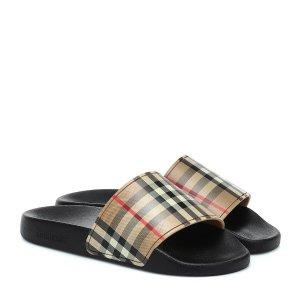BurberryVintage格纹拖鞋