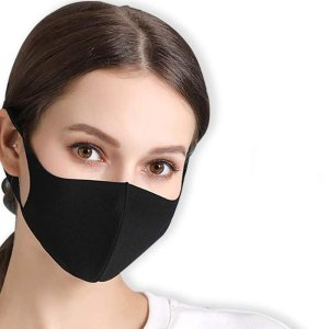 7.9折 10只仅€9.39黑色口罩10只装 可水洗可重复使用 出门必备