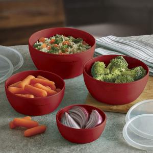 $12.99KitchenAid 烹饪备菜碗4件套 带盖