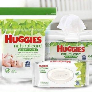 $18.02(原价$22.99)Huggies 好奇天然呵护无香婴儿湿巾1008抽 含99%纯水 温柔呵护