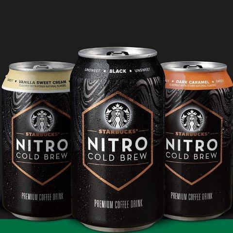 $20.37Starbucks Nitro Cold Brew, Black Unsweetened, 9.6 Fl oz Can (8 Pack)