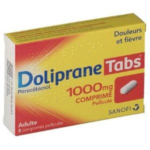 建议24小时内不能超过3000mgDoliprane Tabs® 1000 mg - 退烧止疼片
