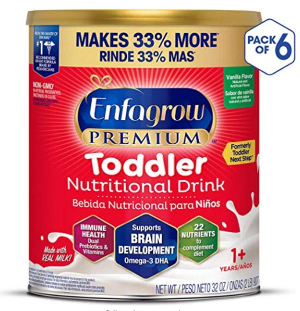 PREMIUM 婴幼儿1-3岁非转基因配方奶粉 32oz/罐