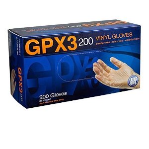 AMMEX - GPX3D42100-BX - Vinyl Gloves - GPX3D - Disposable, Powder Free, Industrial, 3 mil, Small, Clear (Box of 200)
