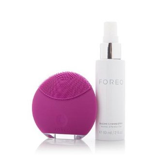 $54FOREO LUNA mini Silicone Face Brush with Facial Cleansing for All Skin Types
