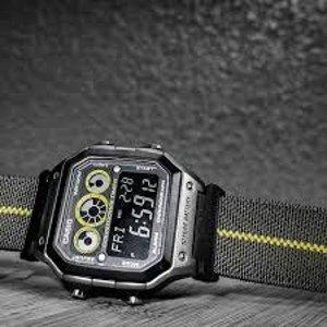 $29.99(原价$32.99)卡西欧AE1300WH-8AV男式运动手表 十年电池 简单耐用