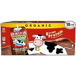 Horizon Organic低脂有机奶 巧克力 8oz 18盒