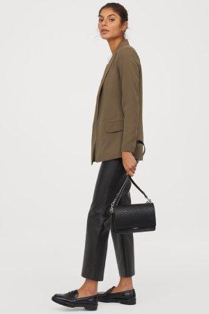 Long Jacket - Khaki green - Ladies | H&M US