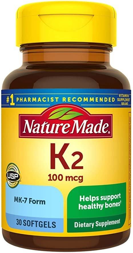 维生素K2 100 mcg 30粒
