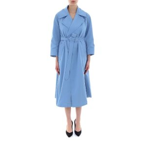 Max MaraWater-Repellent Faille Trench Coat