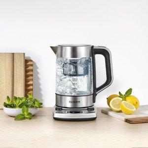 折后€25.99 原价€34.99Severin 玻璃烧水壶 材质安全 快速烧水 带过滤口 大口好清洁
