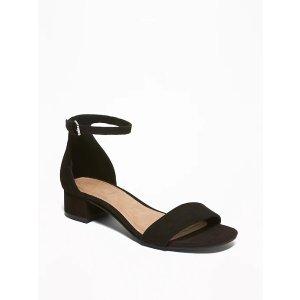 GapFaux-Suede Low-Heel Sandals for Women