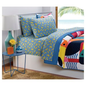 $8Blue & Yellow Banana Sheet Set - Hot Now