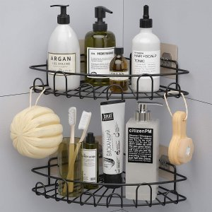 低至7.8折 最低€13.99可收Amazon 浴室置物架热卖 免打孔不伤墙面 整洁摆放洗护小物