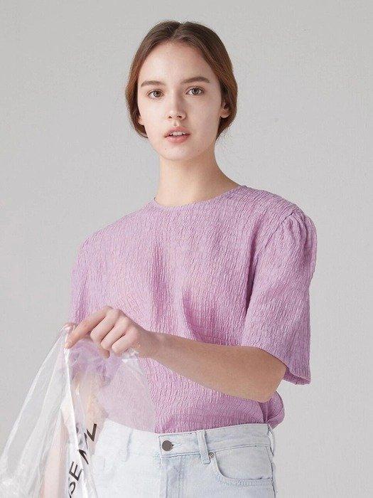 紫色短袖上衣