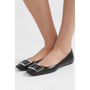 Roger VivierTrompette Bellerine glossed-leather ballet flats