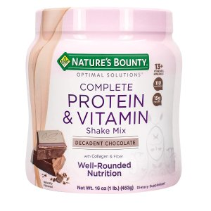 Nature's Bounty 蛋白维生素奶昔1磅促销 富含胶原蛋白