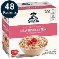 QUAKER 草莓奶油口味速溶早餐燕麦片  48包