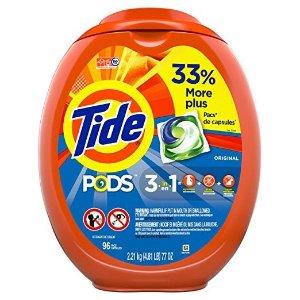 Tide96个三合一洗衣球