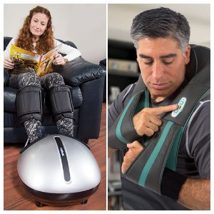 $254.97InstaShiatsu+ Foot Massager with Heat (Refurbished) + NEW InstShiatsu+ Neck and Back Massager with Heat Combo